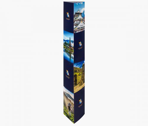 Dreikantaufsteller 33,3 x 156 cm - Window2Print