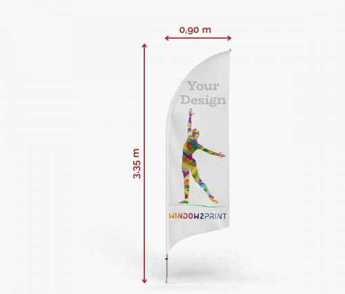 Alu Beachflag Bend M - Window2Print