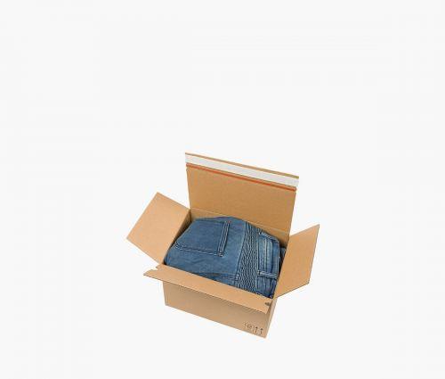 Faltkarton AUTO 50 - Zwei Selbstkleberstreifen ✦ Window2Print