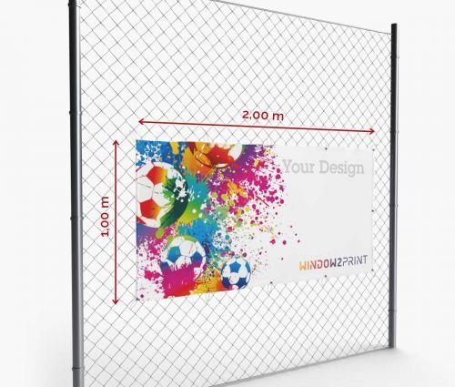 Werbebanner - Frontlit - 200 x 100 cm