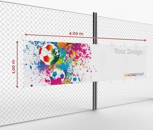 Werbebanner - Frontlit - 400 x 100 cm