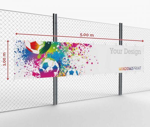 Werbebanner - Frontlit - 500 x 100 cm