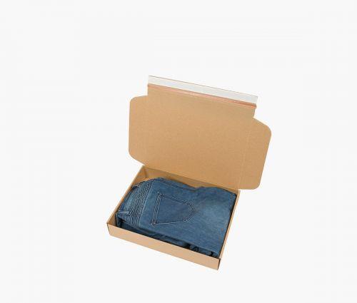 Faltkarton FAST 30 - Karton mit faltbarem Boden und schließbar ohne Klebeband ✦ Window2Print