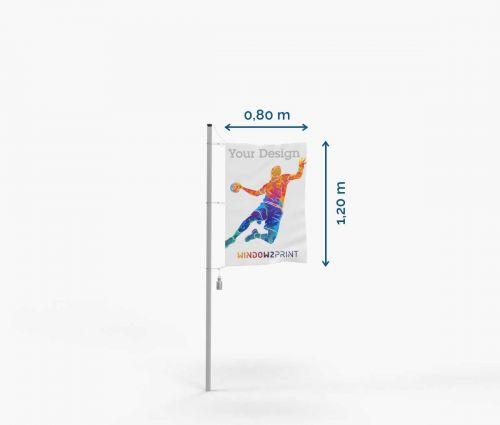 Hissfahne - Polyester mit Karabinerhaken I Window2Print