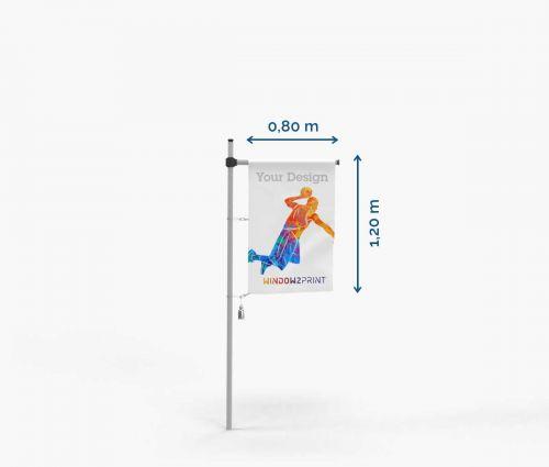 Hissfahne - Polyester 115g - 80 x 120 cm - mit Hohlsaum und Karabinerhaken I Window2Print