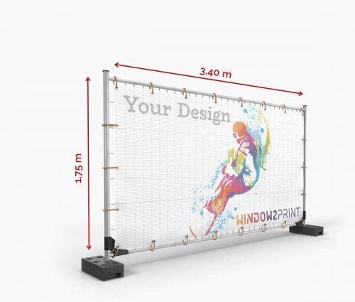 Netz Bauzaunbanner (Mesh) 340 x 175 cm - Window2Print