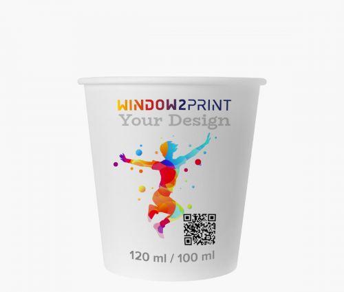 Pappbecher 100 ml - Window2Print