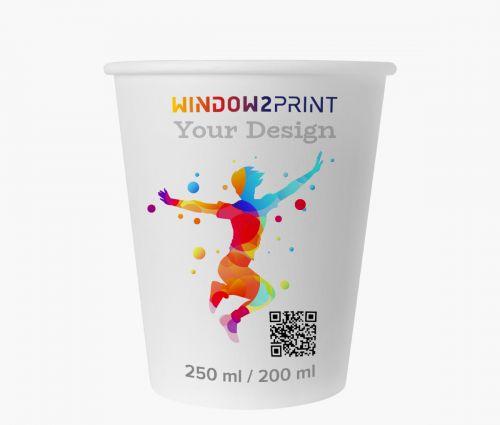 Pappbecher 200 ml - Window2Print