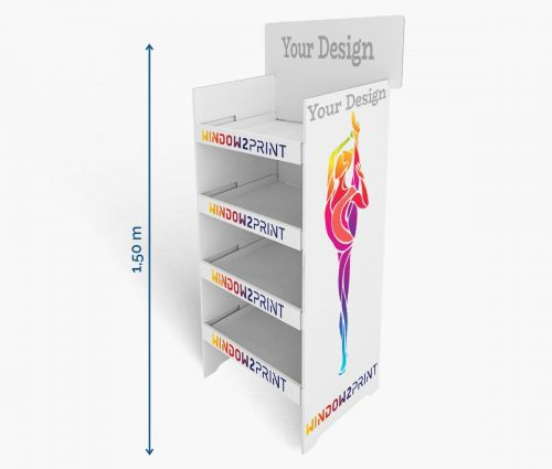 Regaldisplays 1 - 60 x 40 x 150 cm - Window2Print