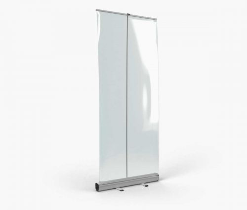 Roll-Up Spuck-Schutz Transparent 85 x 200 cm - Window2Print