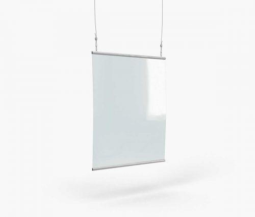 Schutzwand zum Aufhängen 70 x 90 cm - Window2Print