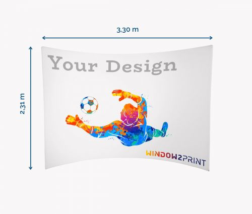 Textilmessewand Horizontal - Window2Print