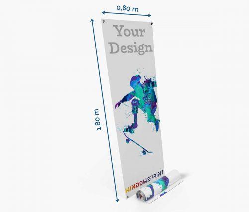 X-banner 80 x 180 cm - nur Druck