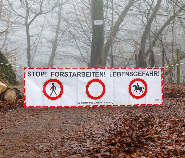 Forst Absperrbanner | Banner günstig online bestellen